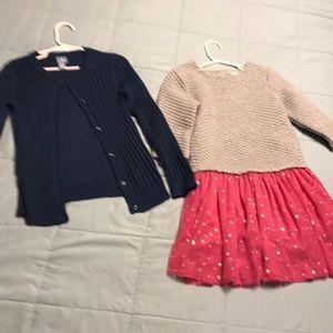 2 pc bundle Baby Gap 5T 5 years dress sweater